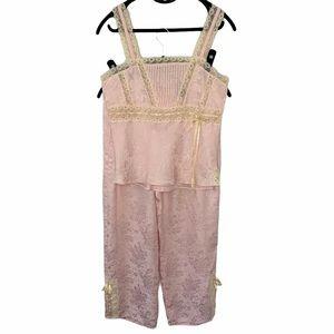 Hillard & Hanson 100% silk cami pajama set